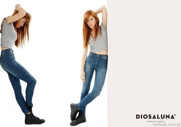 jeans chupin Diosa Luna otoño invierno 2017