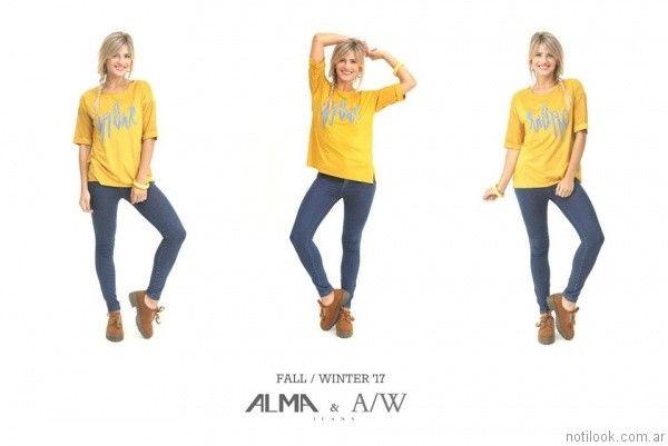 jeans chupin clasico Alma Jeans otoño invierno 2017