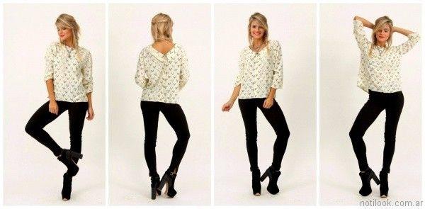 jeans chupin negro Alma Jeans otoño invierno 2017