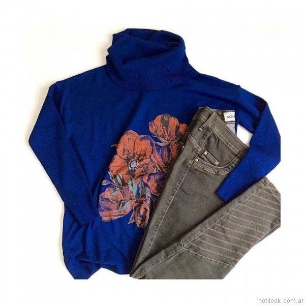 jeans con detalles en alforzas MOravia Jeans otoño invierno 2017