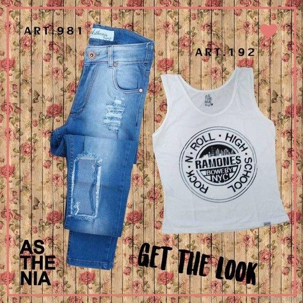 jeans con parches Asthenia otoño invierno 2017