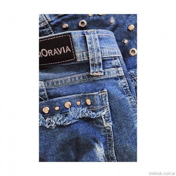 jeans con tachas MOravia Jeans otoño invierno 2017