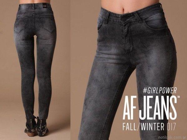 jeans gastados AF Jeans otoño invierno 2017
