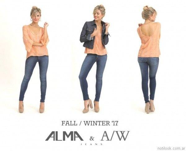 jeans gastados Alma Jeans otoño invierno 2017
