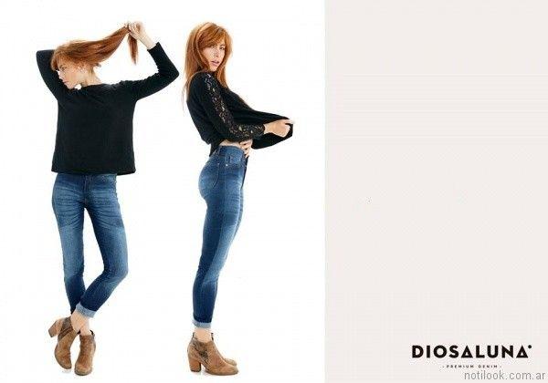 jeans gastados Diosa Luna otoño invierno 2017