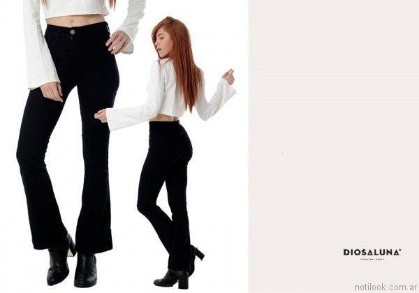 jeans oxford negro Diosa Luna otoño invierno 2017
