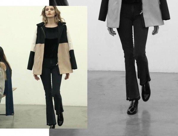 jeans oxford y saco con cierre Estancias Chiripa otoño invierno 2017