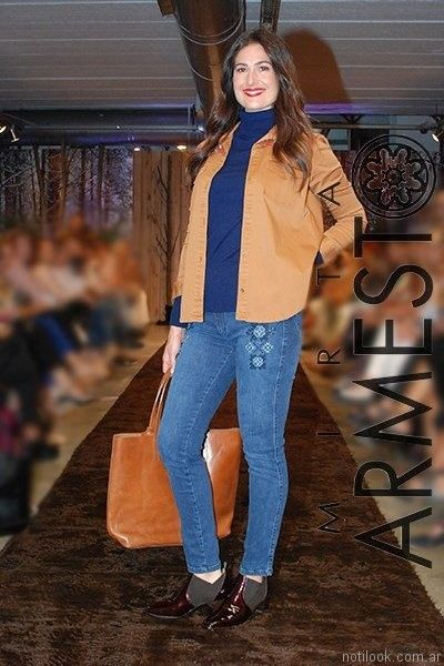 jeans para señoras Mirta armesto otoño invierno 2017