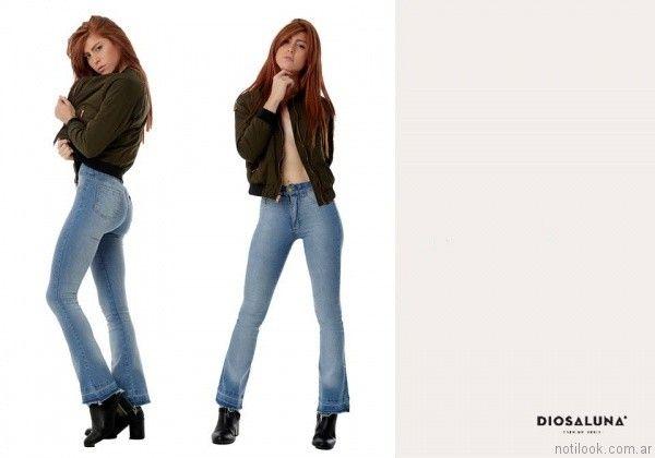 jeans rectos Diosa Luna otoño invierno 2017