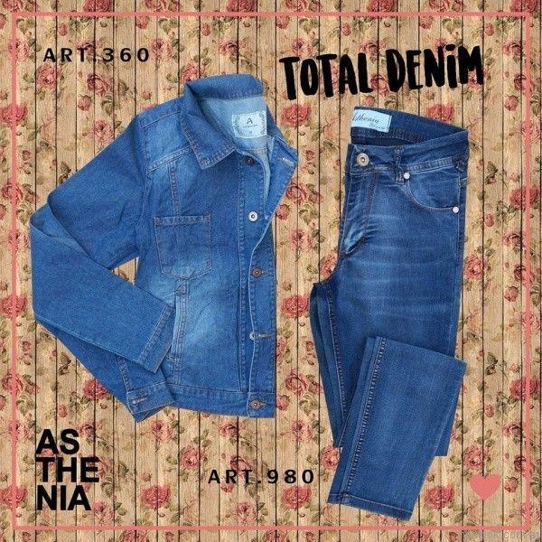 outfit total denim Asthenia otoño invierno 2017