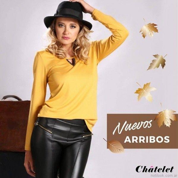 pantalon de cuero chatelet otoño invierno 2017