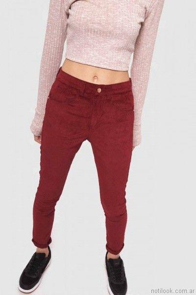 pantalones de colores juveniles muaa otoño invierno 2017