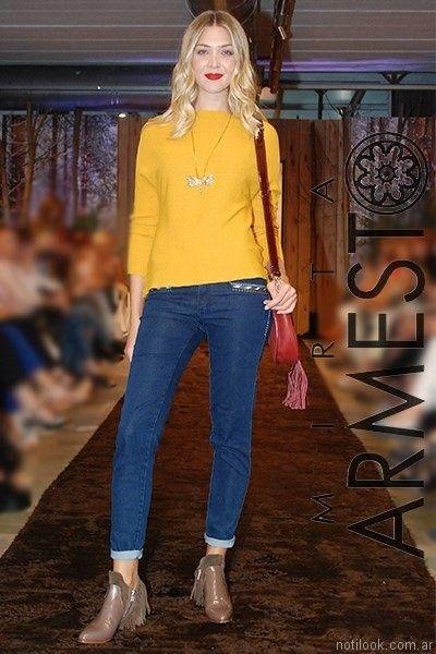 pantalones de jeans Mirta armesto otoño invierno 2017