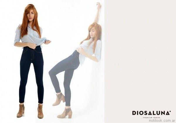 pantalones de jeans mujer Diosa Luna otoño invierno 2017