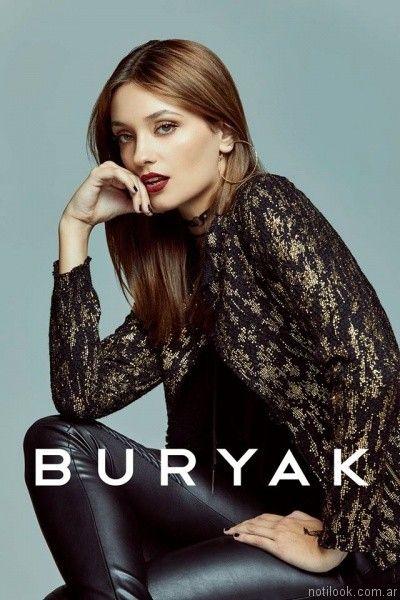 pantalones engomados otoño invierno 2017 Buryak