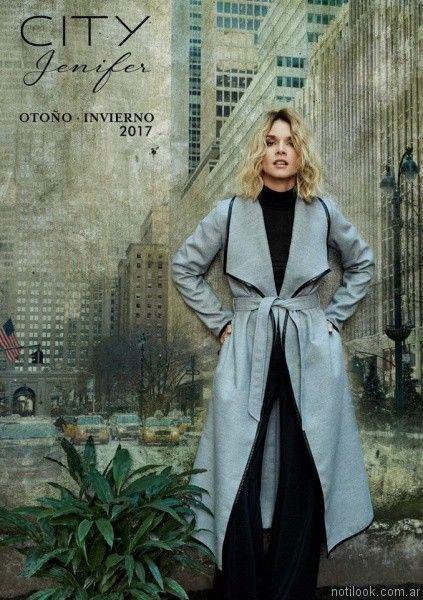 piloto largo mujer city Jenifer Jenifer argentina otoño invierno 2017