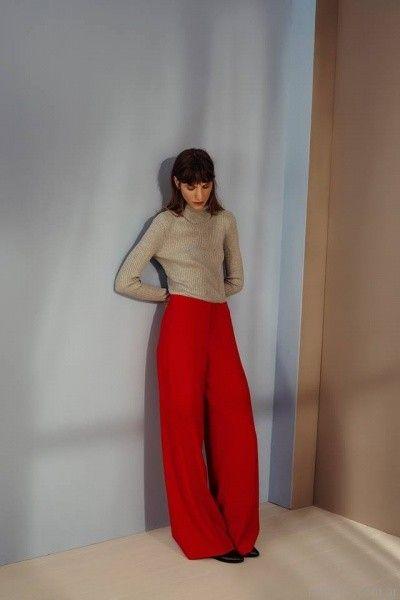 polera y pantalon palazo otoño invierno 2017 - Cacharel