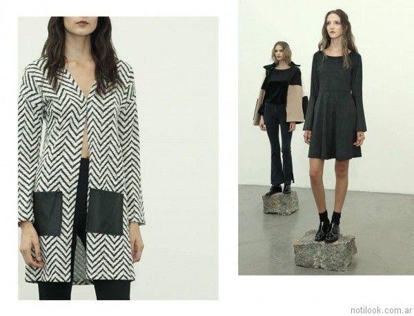 saco blanco y negro Estancias Chiripa otoño invierno 2017