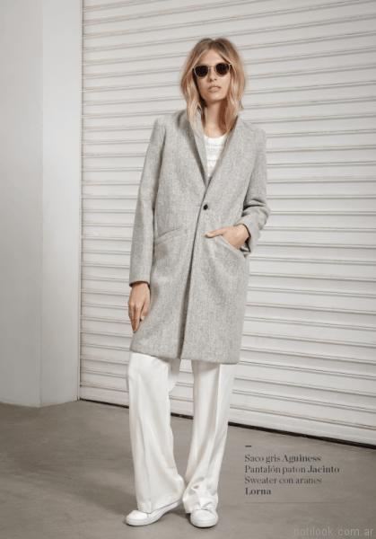 saco gris claro mujer Perramus otoño invierno 2017
