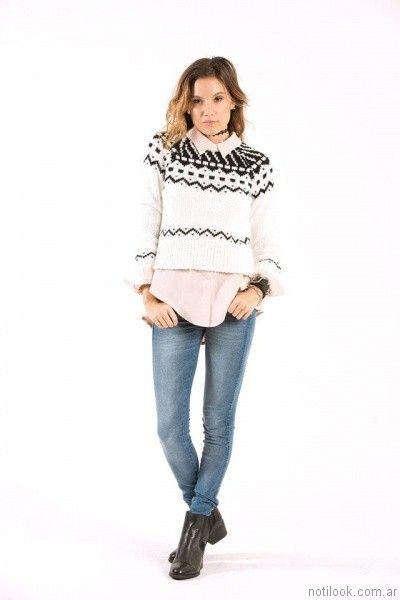 sweater de lana mujer Scombro Jeans otoño invierno 2017