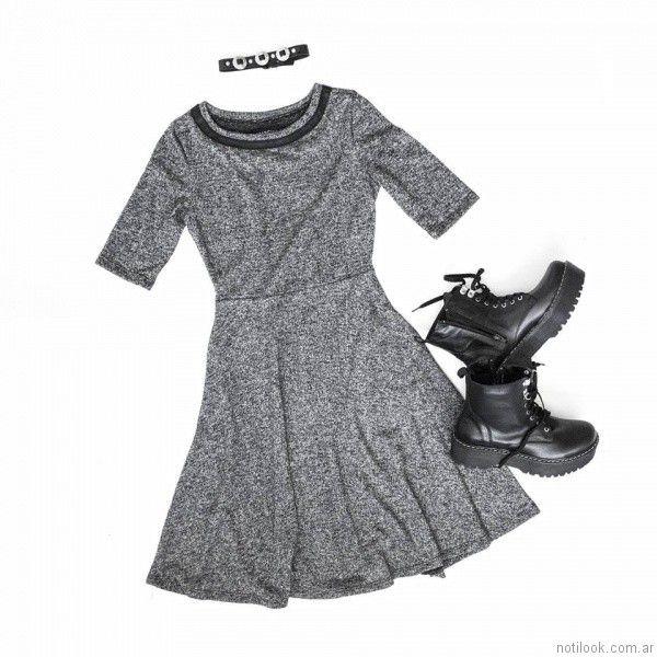 vestidos cortos para el dia Estancias Chiripa otoño invierno 2017