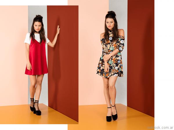 vestidos cortos para la noche nucleo otoño invierno 2017