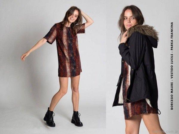 vestidos para el dia Chocolate otoño invierno 2017