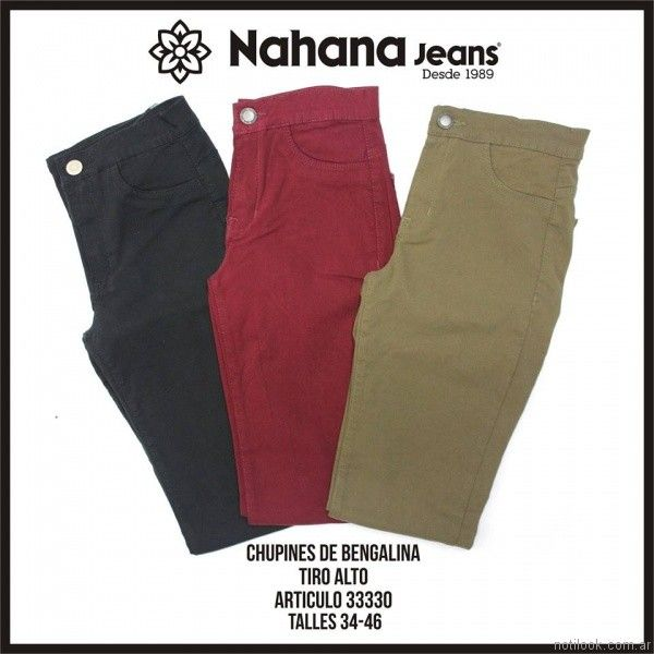 Chupines de bengalina elastizados invierno 2017 - nahana jeans