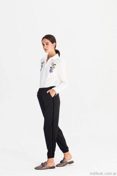 babucha y camisa bordada AG Store otoño invierno 2017