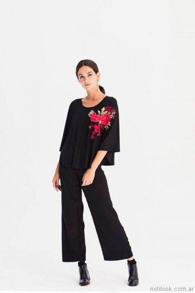 blusa bordada con hilos AG Store otoño invierno 2017