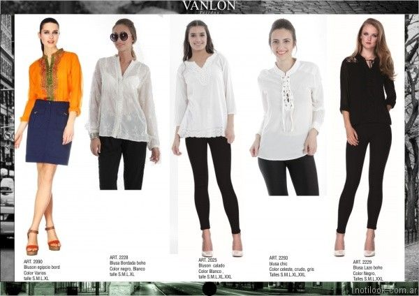 blusas y camisas blancas mujer Vanlon tejidos otoño invierno 2017