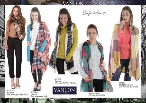 bufandones Vanlon tejidos otoño invierno 2017