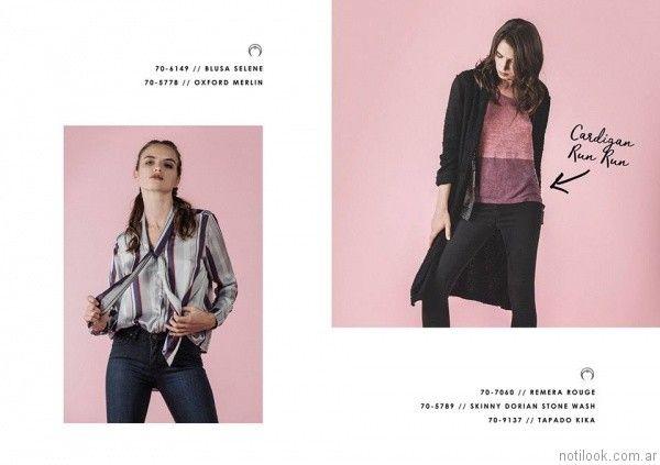 camisa a rayas mujer Legacy otoño invierno 2017