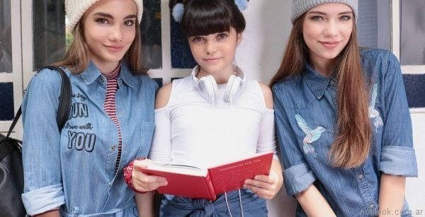 camisa de jeans para adolescentes Te lo Juro otoño invierno 2017