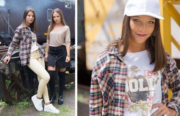 camisas escocesas teenager y pollera abotonada Doll Fins otoño invierno 2017