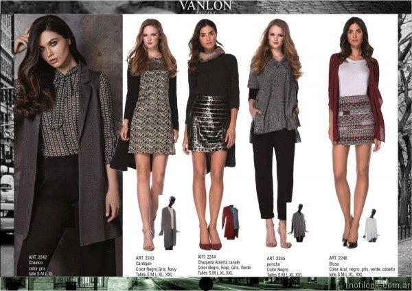 cardigan largo chaleco sastrero minifaldas Vanlon tejidos otoño invierno 2017