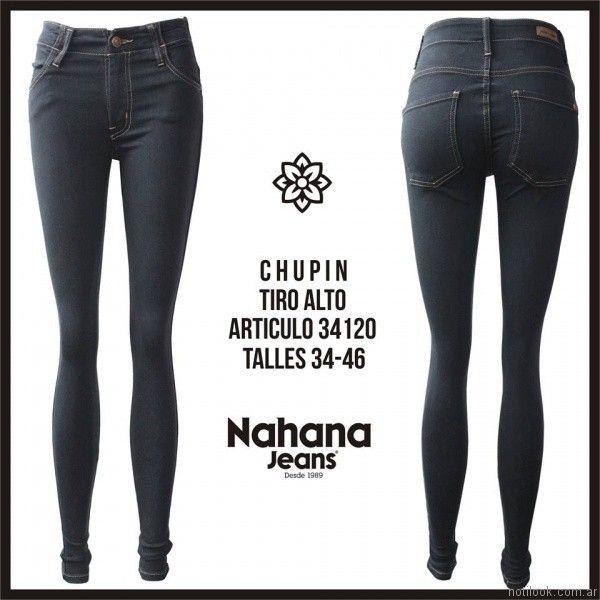 chupin negro tiro alto invierno 2017 nahana jeans