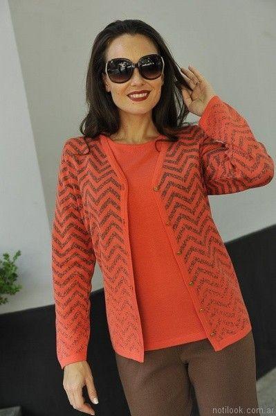 conjunto de remera y cardigan de hilo Di madani s otoño invierno 2017