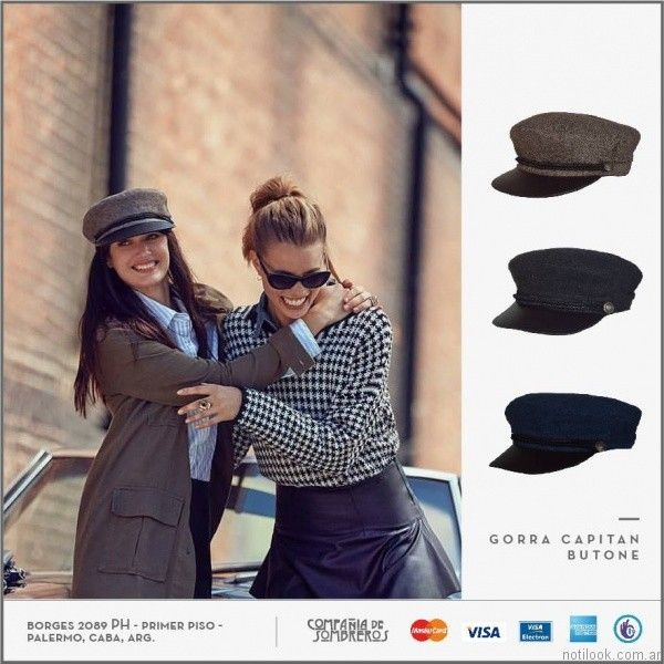 0279086a6c455 gorra capitan Compañia de sombreros otoño invierno 2017