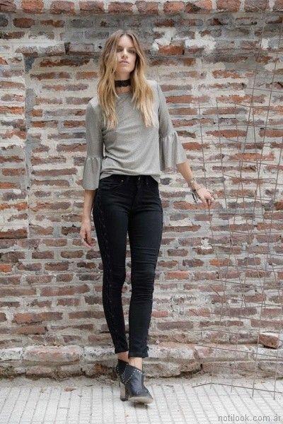 jeans acordonado Riffle Jeans invierno 2017