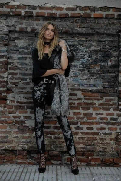 jeans con manchas Riffle Jeans invierno 2017