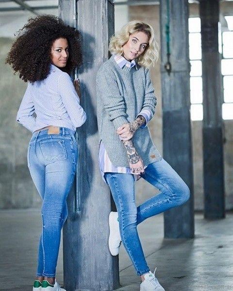 jeans mujer Utzzia otoño invierno 2017