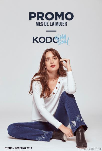 jeans oxford bordado kodo Jeans otoño invierno 2017