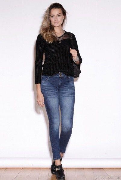 look casual con jeans Vigga Jeans invierno 2017