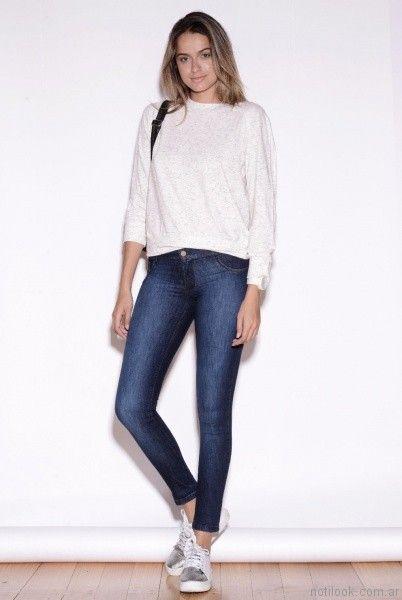look casual con jeans chupin Vigga Jeans invierno 2017