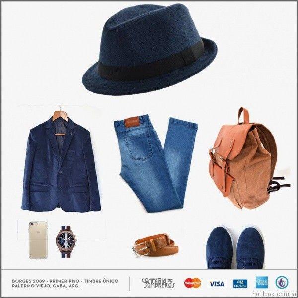 outfit casual elegante con sombrero Compañia de sombreros otoño invierno 2017
