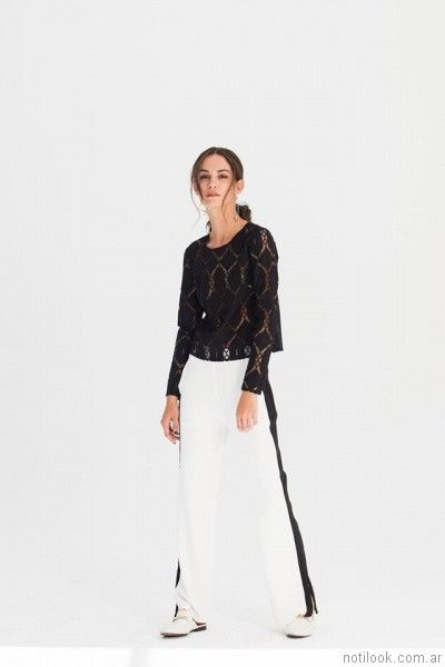 pantalon blanco y negro AG Store otoño invierno 2017