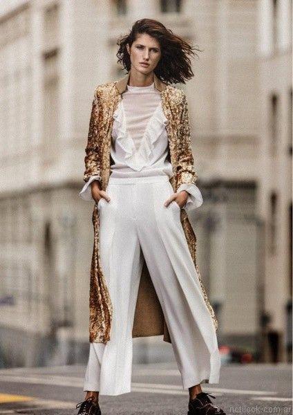 pantalon de vestir blancos Graciela Naum otoño invierno 2017
