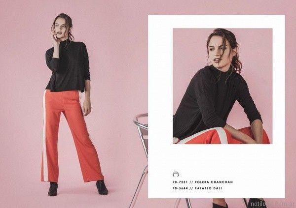 pantalon recto de vestir Legacy otoño invierno 2017