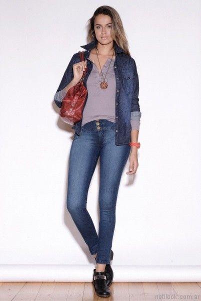 pantalon y camisa de jeans Vigga Jeans invierno 2017